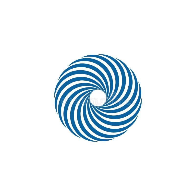 Giro de gerencio Logo Template do Swoosh abstrato ilustração do vetor