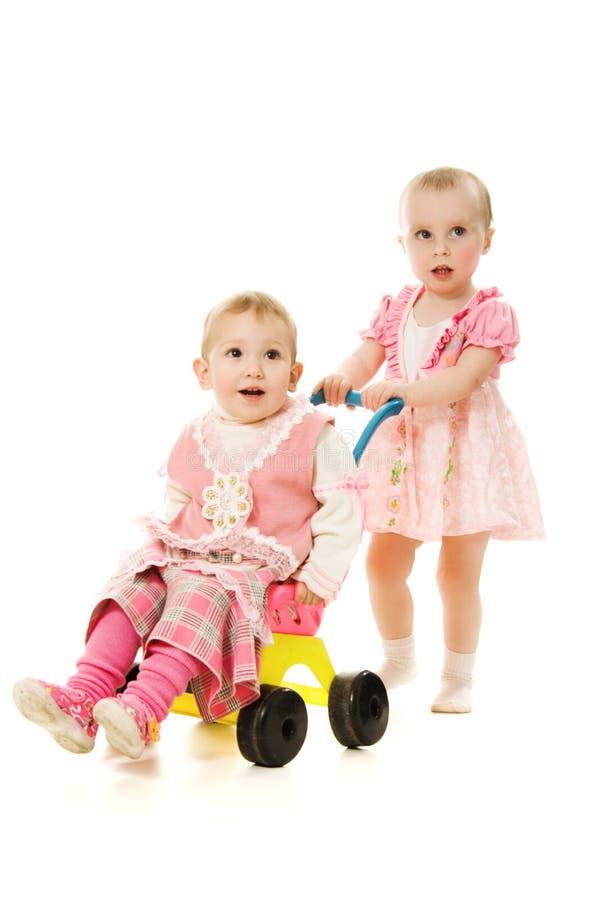 Giro dei bambini con un sidecar fotografia stock libera da diritti