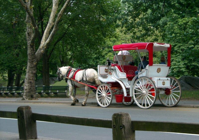 Giro del carrello del Central Park fotografia stock libera da diritti