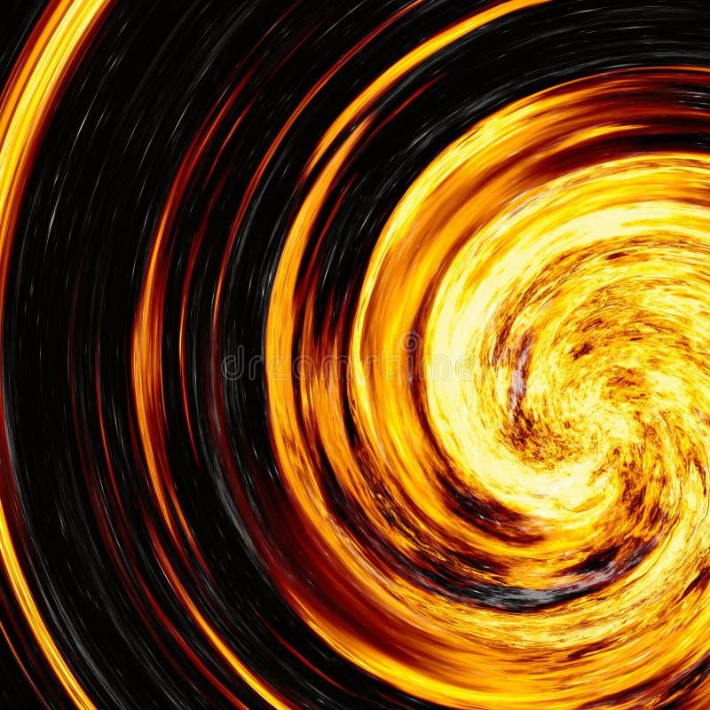 Giro del flash brillante de la explosión en fondos negros explosión del fuego fotografía de archivo