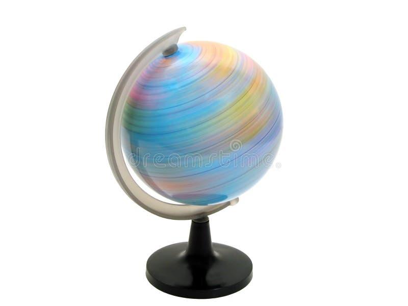 Giro del globo de la tierra foto de archivo