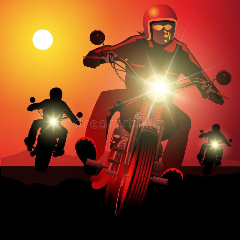 Giro del motociclo illustrazione vettoriale