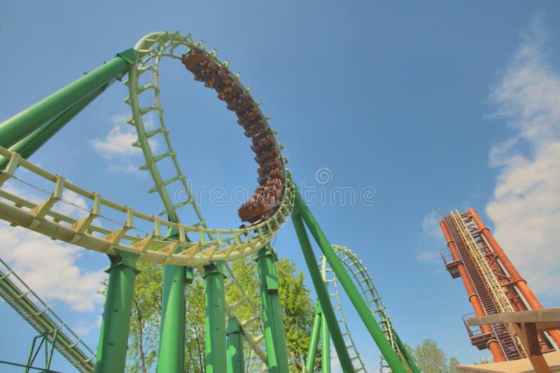 Giro del roller coaster fotografie stock libere da diritti