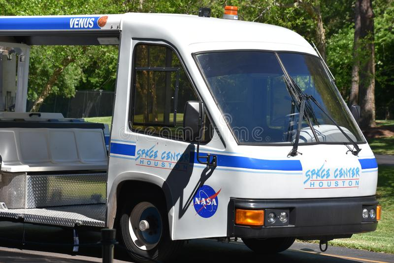 Giro del tram al centro spaziale Houston nel Texas fotografie stock