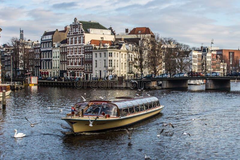 Giro della barca di Amsterdam immagine stock