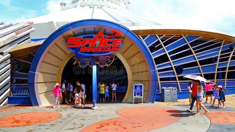 Giro della montagna dello spazio a Disneyland Hong Kong fotografia stock