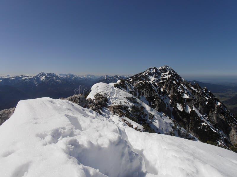 Giro della montagna di inverno fotografia stock libera da diritti