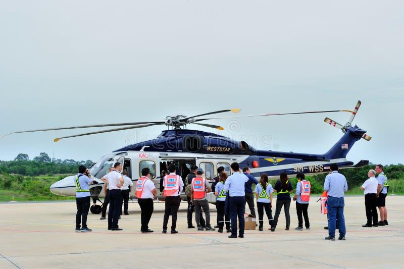 Giro di AgustaWestland AW189 Asia che visita la Tailandia fotografia stock