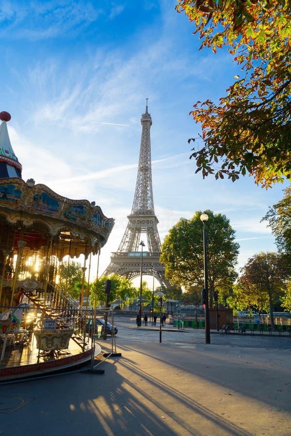 Giro di Eiffel e da Trocadero, Parigi fotografia stock