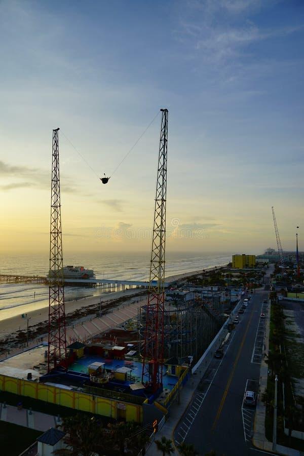 Giro di emozione della corda elastica di Daytona Beach fotografia stock