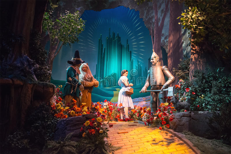 Giro di film di mago di Oz del mondo di Disney grande immagini stock