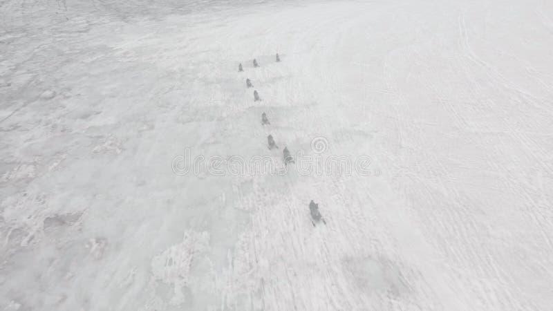 Giro di gatto delle nevi in Islanda fotografie stock libere da diritti