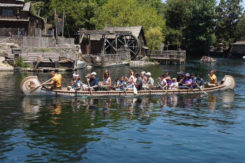 Giro Disneyland della canoa fotografia stock