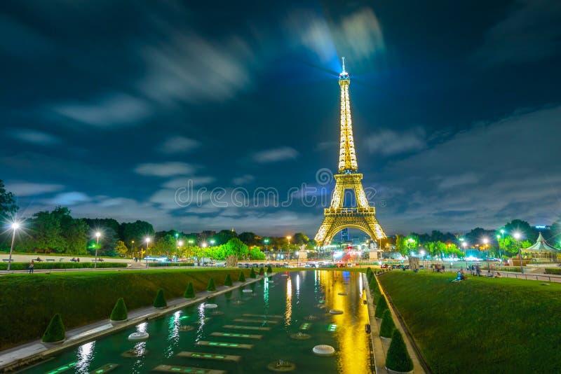 Giro Eiffel nel giardino di Trocadero immagini stock libere da diritti