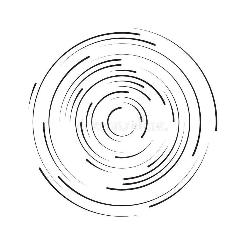 Giro em uma linha do círculo abstraia o fundo ilustração do vetor