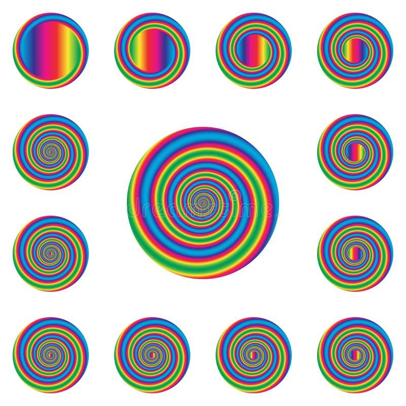 Giro espiral ilustração stock
