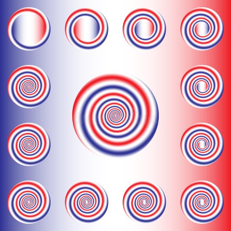 Giro espiral ilustração royalty free