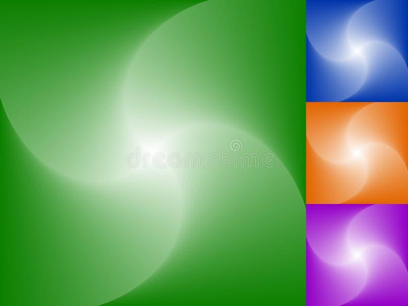 Giro espiral, grupo do fundo da torção Sumário monocromático desvanecido ilustração do vetor