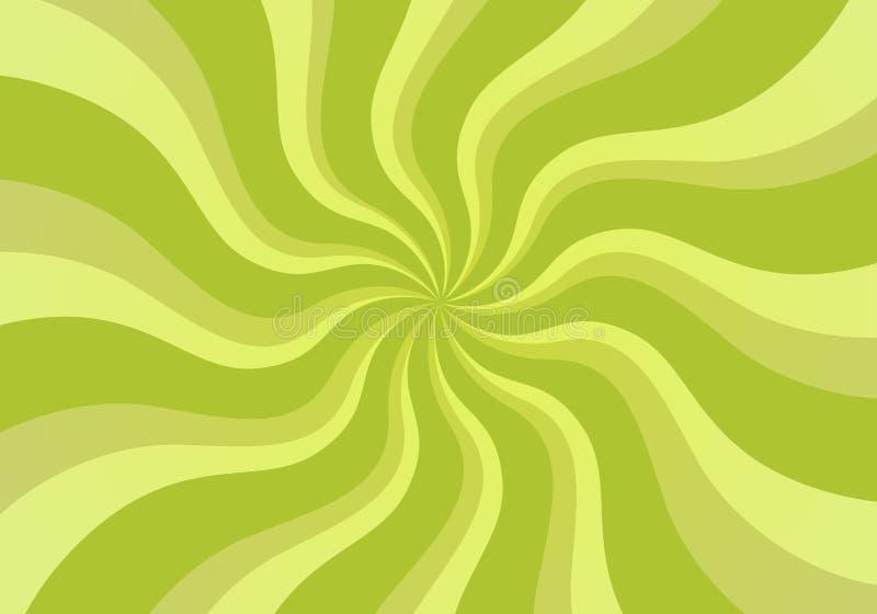 Giro horizontalmente verde ilustração stock