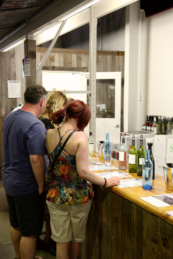Giro @ Hunter Valley Australia dell'assaggio di vino fotografia stock