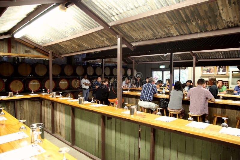 Giro @ Hunter Valley Australia dell'assaggio di vino immagine stock