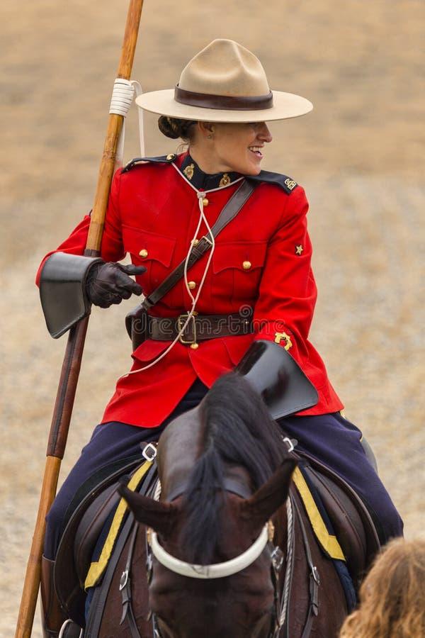 Giro musicale in Ancaster, Ontario di RCMP immagini stock libere da diritti
