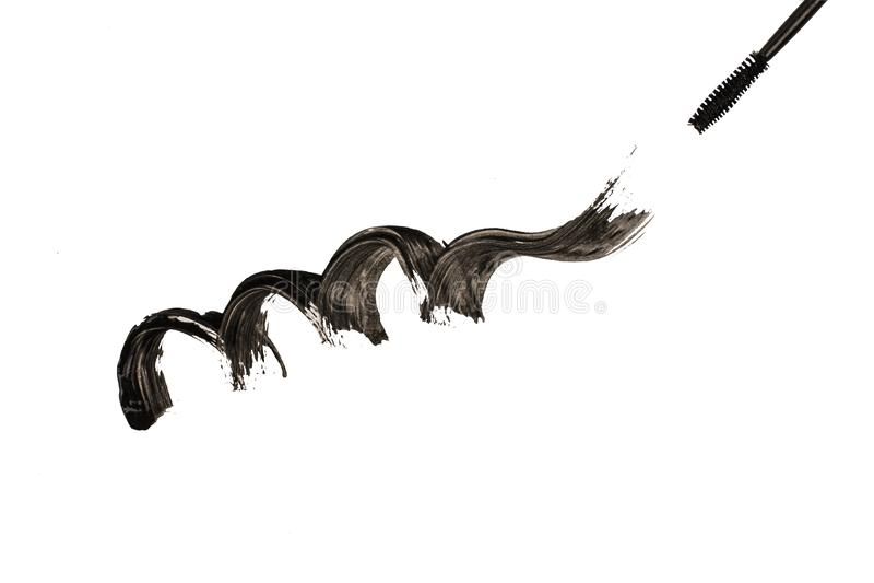 Giro negro elegante con el cepillo del masscara aislado imagen de archivo