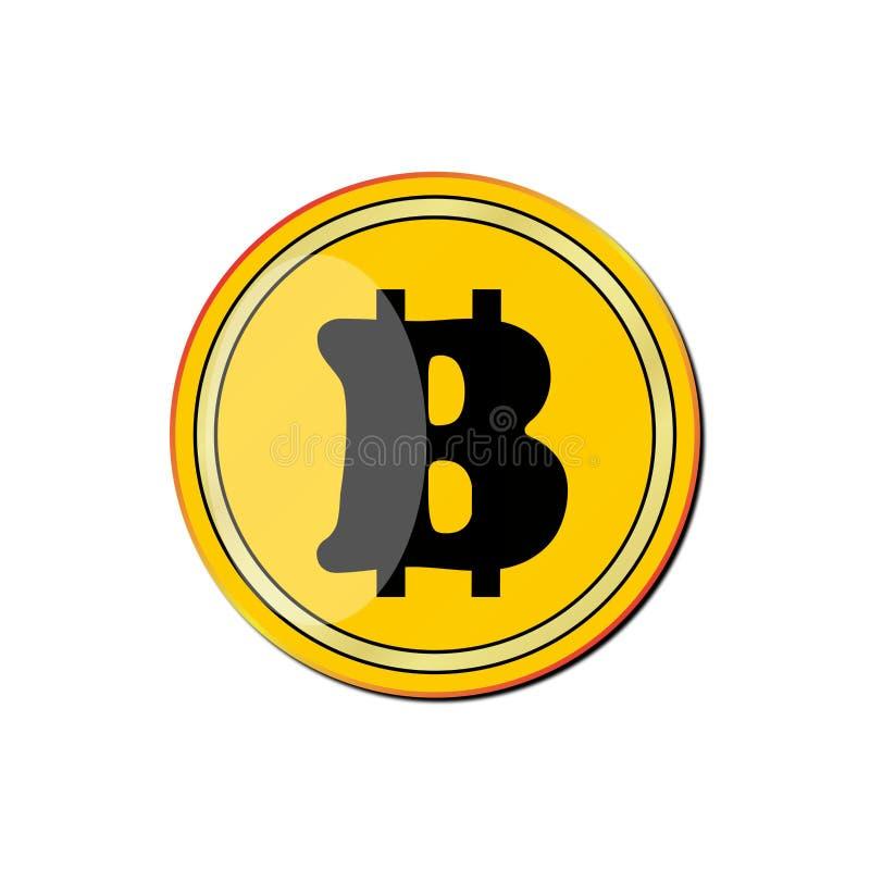 Giro, oro, ½ giallo del ¾ иРdel 'кРdella moneta Ð±Ð¸Ñ su un fondo bianco fotografie stock