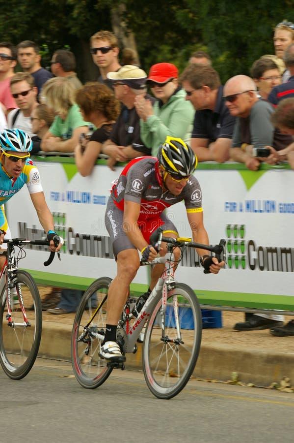 Giro principale di Lance Armstrong giù sotto 2010 fotografia stock libera da diritti