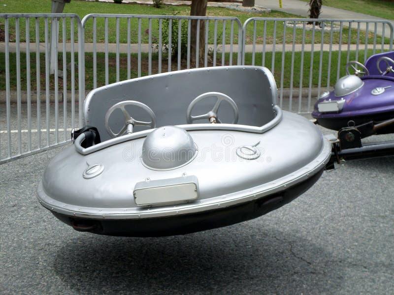 Giro straniero di carnevale dell'astronave del UFO immagine stock libera da diritti