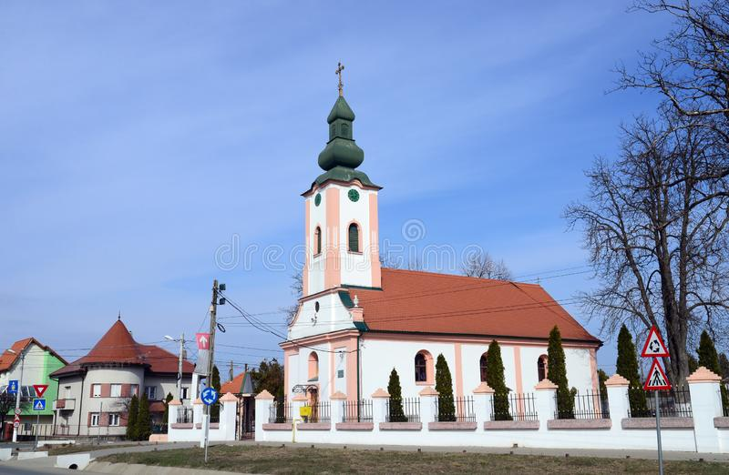 Giroc village church. Timis county Romania religious landmark architecture travel building royalty free stock image