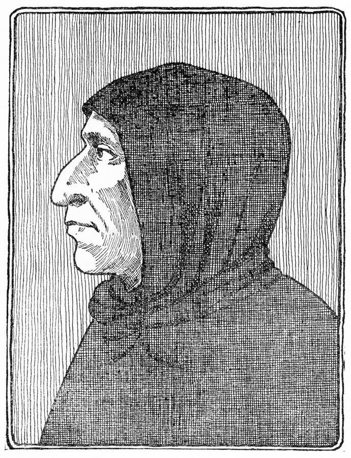 Girolama Savonarola, predicador y reformador italiano stock de ilustración