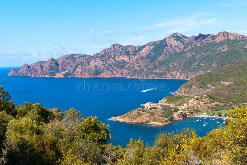 Girolata Bay and Scandola stock images