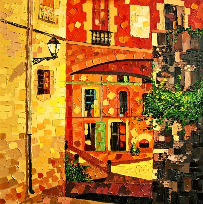 Girona-Ölgemälde stockbilder