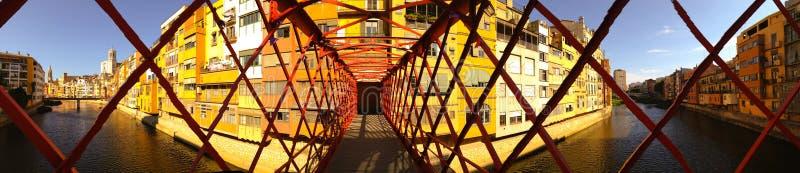 Girona Άιφελ ποταμός στοκ εικόνες με δικαίωμα ελεύθερης χρήσης