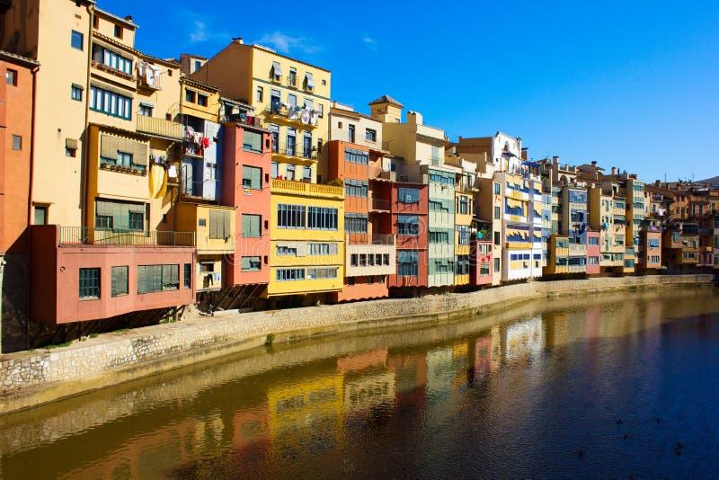 girona παλαιά Ισπανία πόλη στοκ φωτογραφίες