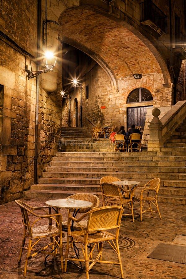 Girona τή νύχτα στοκ εικόνες με δικαίωμα ελεύθερης χρήσης