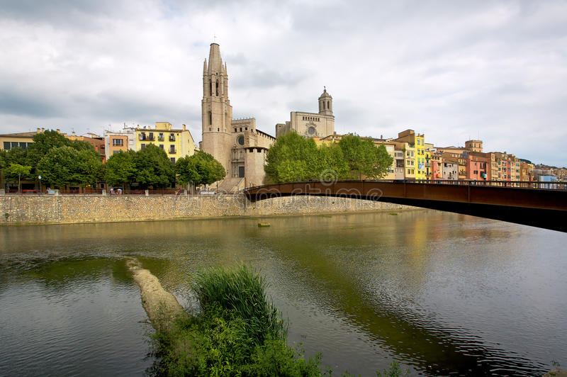 Download Girona stock photo. Image of gray, city, cloud, province - 18168868