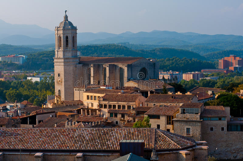 Download Girona stock image. Image of river, church, summertime - 21580873