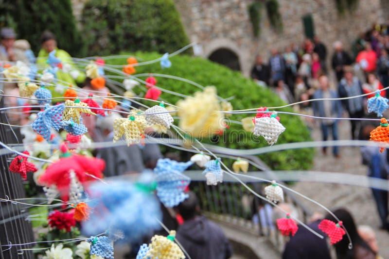 Girona arbetar tillfälligt de flors arkivfoto