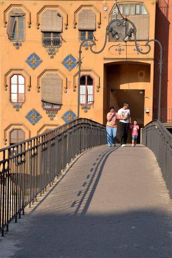 Girona bridge, Catalonia, Spain royalty free stock images