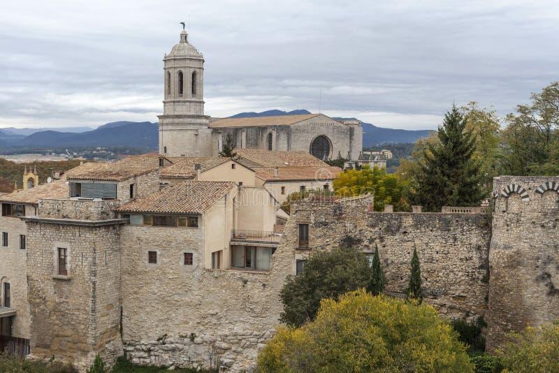 Girona Catalonia, Spanien arkivbild