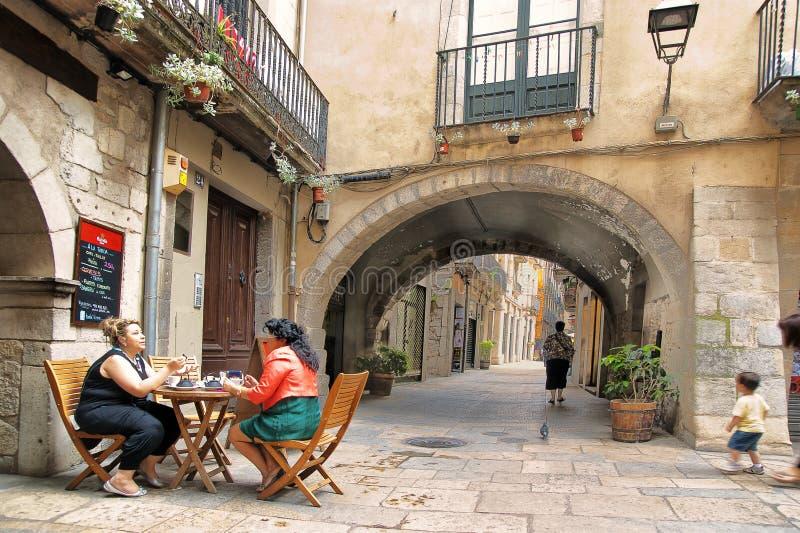 Girona Catalonia Spanien royaltyfria bilder