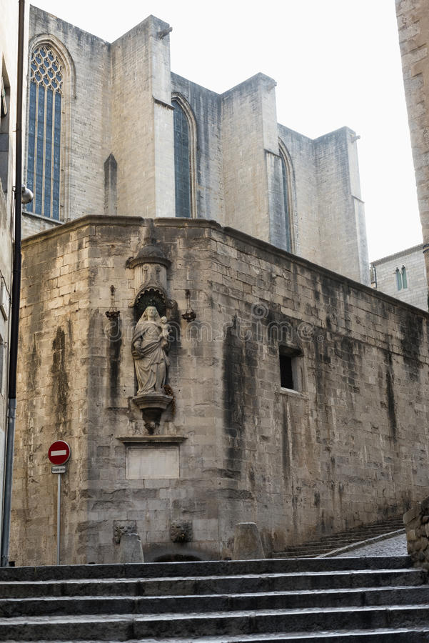 Girona Catalunya, Ισπανία, παλαιά οδός στοκ εικόνες με δικαίωμα ελεύθερης χρήσης