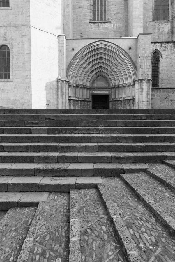 Girona Catalunya, España, catedral foto de archivo libre de regalías