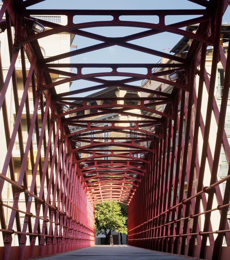 Girona Catalunya, puente de España sobre el río de Onyant imágenes de archivo libres de regalías