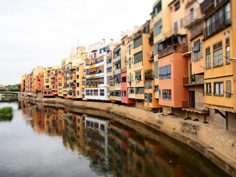 Girona is a city in Catalonia, Spain royalty free stock photography