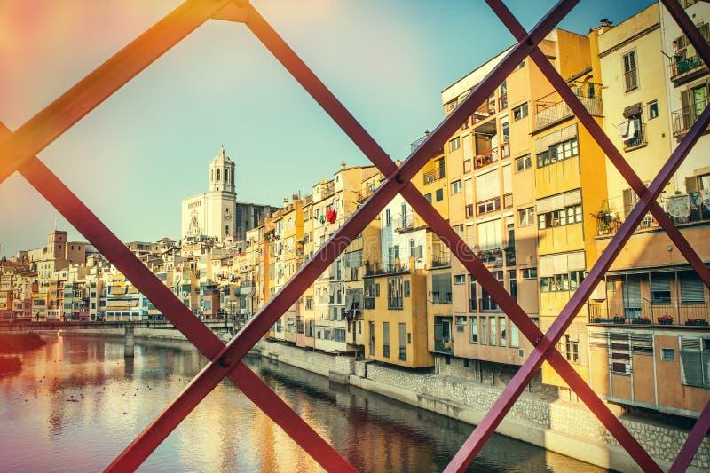 Girona d'annata fotografia stock libera da diritti