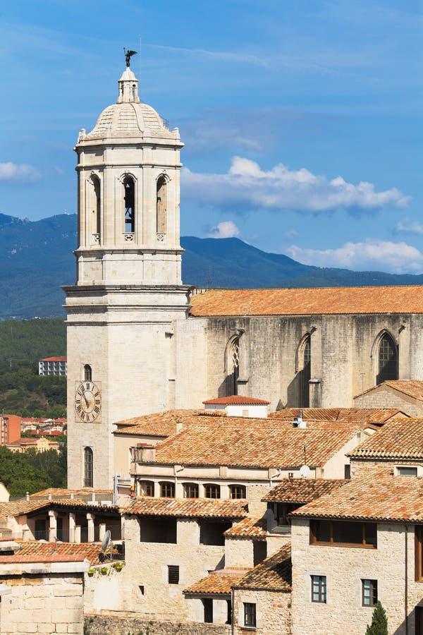 Girona katedra zdjęcie royalty free