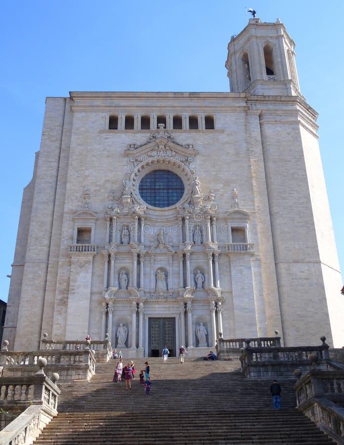 Girona katedra zdjęcie stock